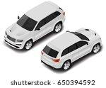 vector isometric car icon.... | Shutterstock .eps vector #650394592