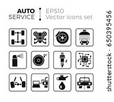 car service flat icons set.... | Shutterstock .eps vector #650395456