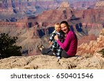 a mother with baby son in grand ... | Shutterstock . vector #650401546