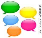 glossy speech bubbles  eps10 | Shutterstock .eps vector #65040250