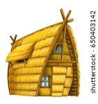 old cartoon hay house  ... | Shutterstock . vector #650403142