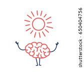 positive mind. vector concept... | Shutterstock .eps vector #650404756