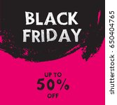 black friday sale banner  | Shutterstock .eps vector #650404765