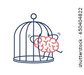 brain trying open the grids to... | Shutterstock .eps vector #650404822
