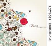 vintage flower | Shutterstock .eps vector #65041276