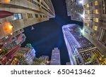 night skyward view of new york... | Shutterstock . vector #650413462