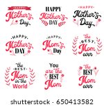 mothers day hand lettering... | Shutterstock .eps vector #650413582
