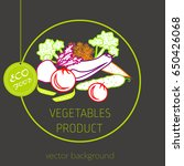 carrots  peppers  cucumber ... | Shutterstock .eps vector #650426068