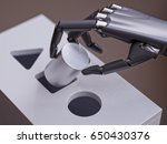 robot makes wrong decision... | Shutterstock . vector #650430376