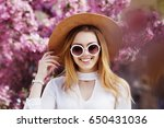 outdoor close up portrait of... | Shutterstock . vector #650431036