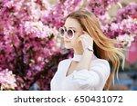 outdoor close up portrait of... | Shutterstock . vector #650431072