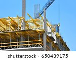 crane and building under... | Shutterstock . vector #650439175