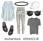 set of stylish clothes ... | Shutterstock . vector #650442118