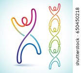 colorful swirly figures that... | Shutterstock .eps vector #650450218