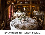 table set for wedding or... | Shutterstock . vector #650454232
