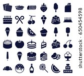 dessert icons set. set of 36... | Shutterstock .eps vector #650454598