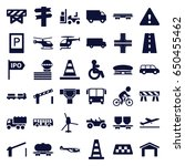 traffic icons set. set of 36... | Shutterstock .eps vector #650455462