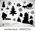 christmas related silhouettes   ... | Shutterstock .eps vector #65045716