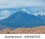 licancabur is a volcano located ...   Shutterstock . vector #650462452