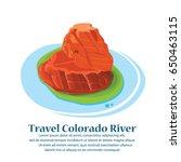 travel famous horseshoe bend of ...   Shutterstock .eps vector #650463115