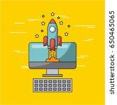 creative process flat... | Shutterstock .eps vector #650465065