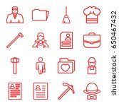 job icons set. set of 16 job... | Shutterstock .eps vector #650467432