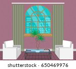 modern living room interior... | Shutterstock .eps vector #650469976
