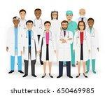 doctors  nurses and paramedics... | Shutterstock .eps vector #650469985