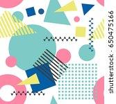 seamless geometric pattern in... | Shutterstock .eps vector #650475166
