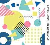 seamless geometric pattern in... | Shutterstock .eps vector #650475196