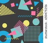 seamless geometric pattern in...   Shutterstock .eps vector #650475256