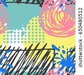 seamless hand drawn pattern in... | Shutterstock .eps vector #650480512