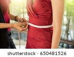 female tailor  fashion designer ... | Shutterstock . vector #650481526