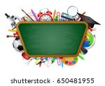 back to school background ... | Shutterstock .eps vector #650481955