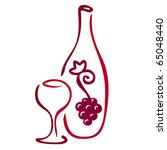 stylized wine icon. vector... | Shutterstock .eps vector #65048440