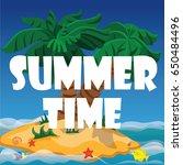 summer time  beach islands ... | Shutterstock .eps vector #650484496