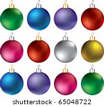 Raster version Illustration of Ornament Set 2 isolated. Twelve different Ornaments. - stock photo
