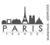 paris skyline silhouette design ... | Shutterstock .eps vector #650491555