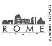 rome skyline silhouette design... | Shutterstock .eps vector #650491576