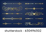 page dividers set. retro... | Shutterstock .eps vector #650496502