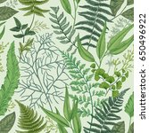 seamless pattern with different ... | Shutterstock .eps vector #650496922
