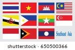 flag southeast asia . vector   Shutterstock .eps vector #650500366