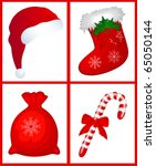 christmas objects | Shutterstock .eps vector #65050144