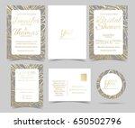 set of wedding invitation card  ...   Shutterstock .eps vector #650502796
