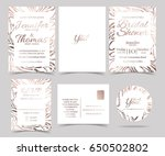 set of wedding invitation card  ...
