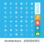 health care icon set clean... | Shutterstock .eps vector #650504392