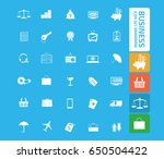 business icon set clean vector | Shutterstock .eps vector #650504422