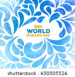 world oceans day. the... | Shutterstock .eps vector #650505526
