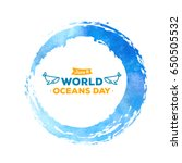 world oceans day. the... | Shutterstock .eps vector #650505532