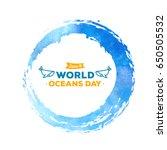 world oceans day. the... | Shutterstock .eps vector #650505532